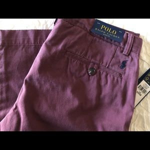 NWT Men's Polo Slim Fit Khaki Pants 33x32